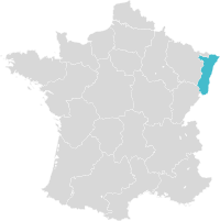 Carte de France localisation région Alsace