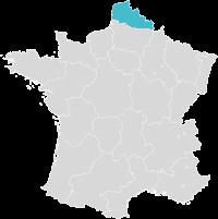 Carte de France localisation Lille