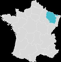 Carte de France localisation Metz
