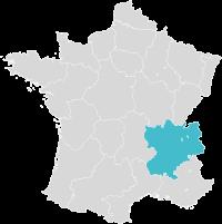 Carte de France localisation Lyon