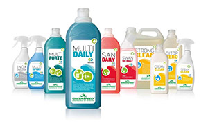 Gamme de produits d'entretien Ecolabel