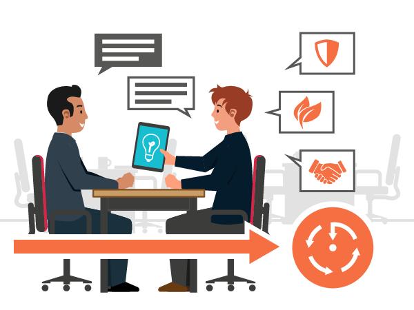 Illustration : Phase de co-création entre Essi et le client