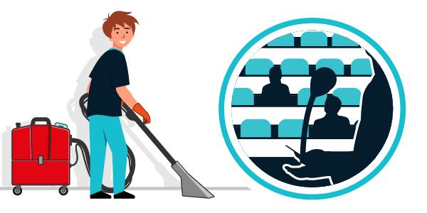 Illustration nettoyage secteur enseignement, lycées, collèges, crèches...