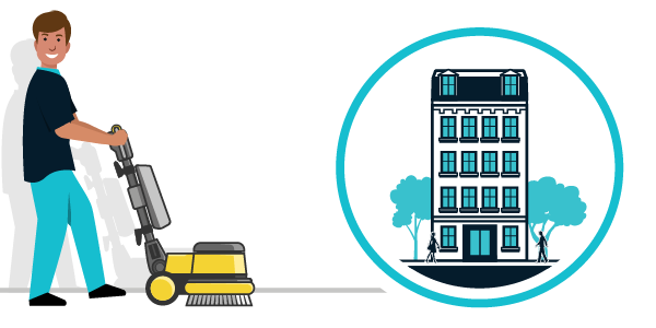 Illustration nettoyage immeubles, copro