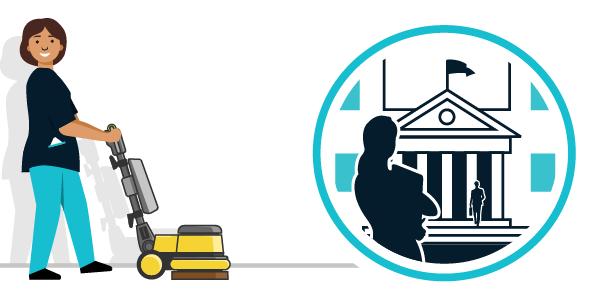 Illustration nettoyage secteur public, administrations et collectivités territoriales
