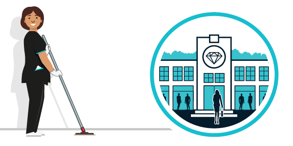 Illustration nettoyage secteur luxe